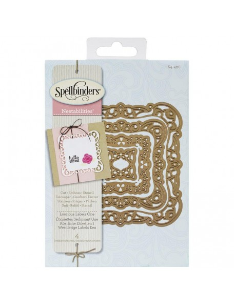 Spellbinders Nestabilities Decorative Elements Dies Luscious Labels 1