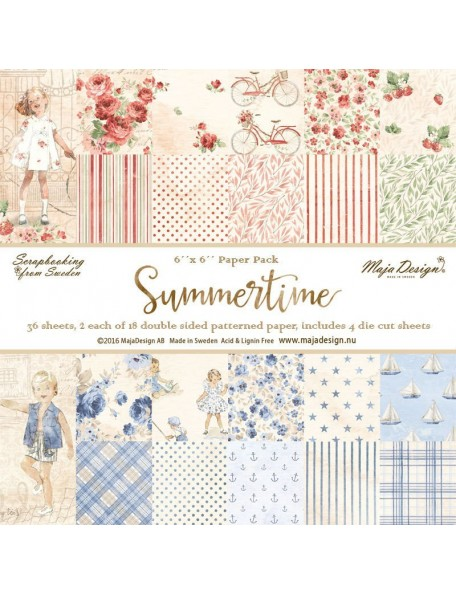 "Maja Design Summertime Pack Stack 6""X6"""