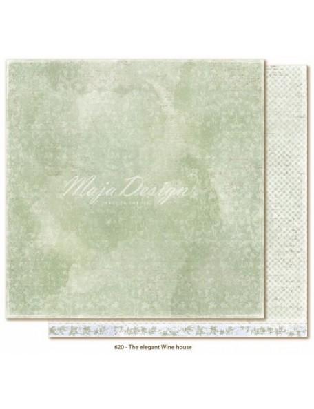 "Maja Design Sofiero Cardstock de doble cara 12""X12"", The elegant Wine house"