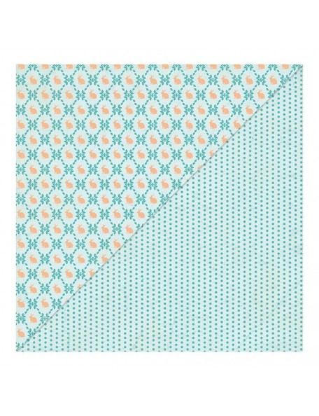 "Authentique - Eastertime Cardstock de doble cara 12""X12"" Multi Dot/Animals Forest"