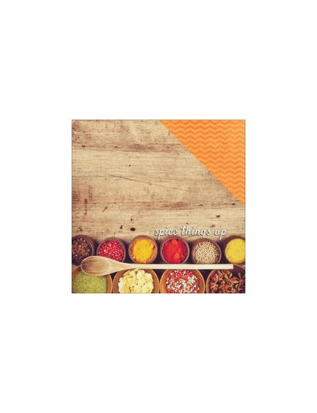 "Paper House - Delish Cardstock de doble cara 12""X12"" Spice things up"