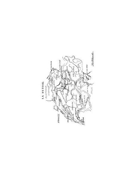 """LaBlanche - Viejo Mapa Suizo Sello de Silicona 2.5""""X4.5"""""""