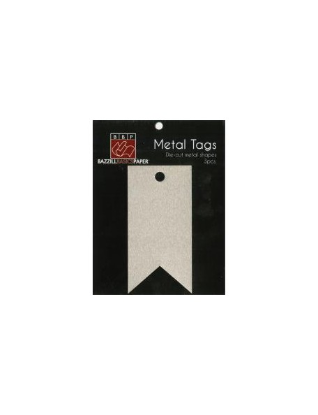 """Bazzill Tags Metalicos Banner Tags 1.75""""X3.5"""""""