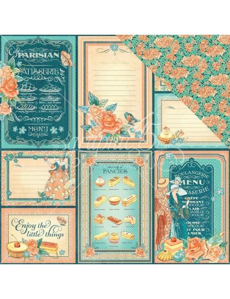 "Graphic 45 Cafe Parisian Cardstock de doble cara 12""X12"", Life is Sweet"