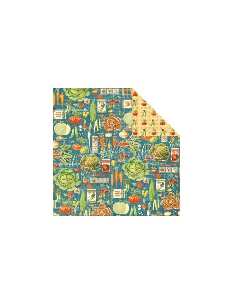 "Graphic 45 - Home Sweet Home Cardstock de doble cara 12""X12"" Farmers Market"