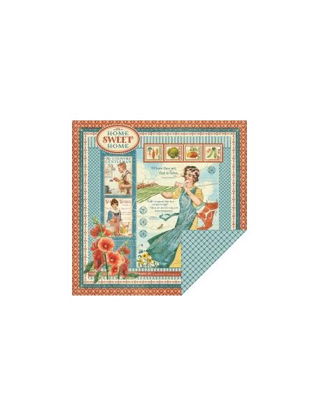 """Graphic 45 - Home Sweet Home Cardstock de doble cara 12""""X12"""" Home Sweet Home"""