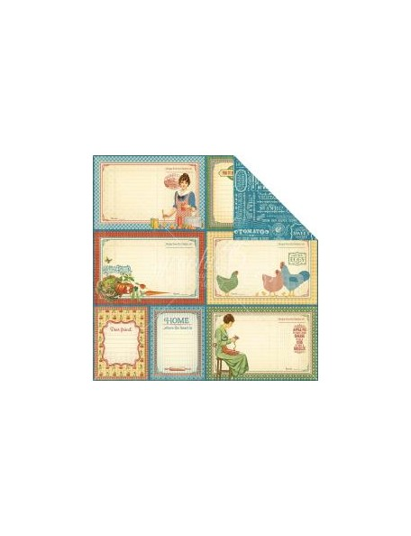 """Graphic 45 Home Sweet Home Cardstock de doble cara 12""""X12"""" My Sunshine"""