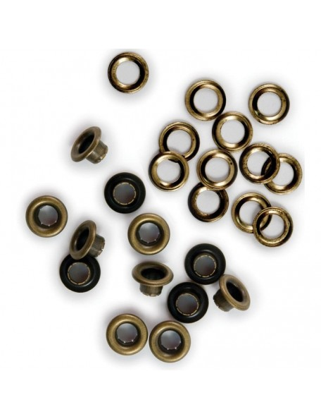 We R Memory Keepers Eyelets & Washers Standard Brass 60 pzas
