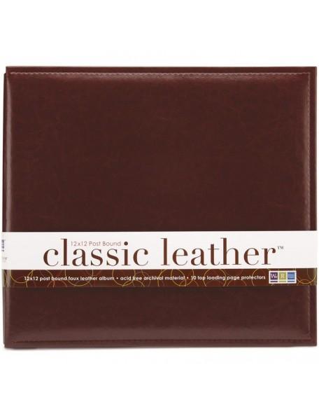 "We R Classic Leather Post Bound Album 12""X12"" Cinnamon"