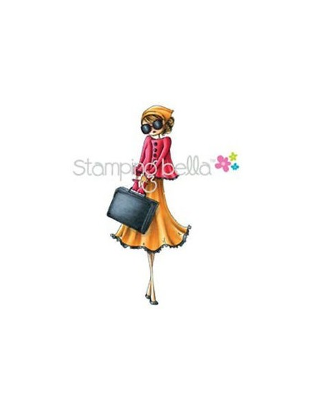 "Stamping Bella Cling Rubber Stamp 4.75""X2"" Uptown Girl Sunny Is Stylish"