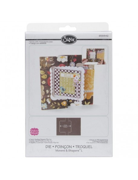 "Sizzix Movers & Shapers Large Base Die 6""X8.75"" Card, Scallop Square Flip-Its"