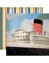 "Carta Bella Let's Cruise Cardstock de doble cara 12""X12"" Bon Voyage"