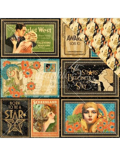 "Graphic 45 Vintage Hollywood Cardstock de doble cara 12""X12"" Spothlight"