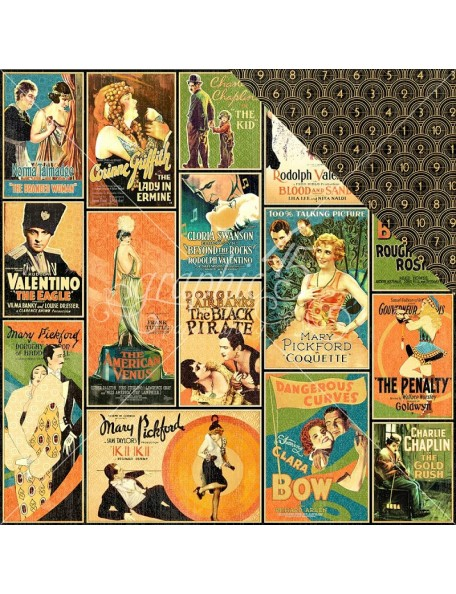"Graphic 45 - Vintage Hollywood Cardstock de doble cara 12""X12"" Tinseltown"