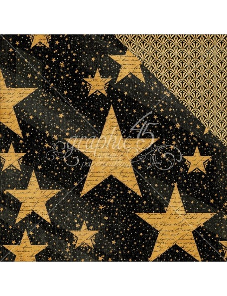 "Graphic 45 - Vintage Hollywood Cardstock de doble cara 12""X12"" Star Studded"