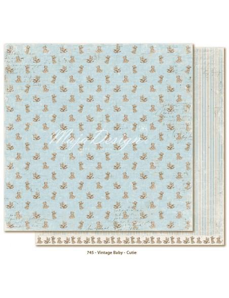 """Maja Design Vintage Baby Cardstock de doble cara 12""""x12"""", Cutie"""