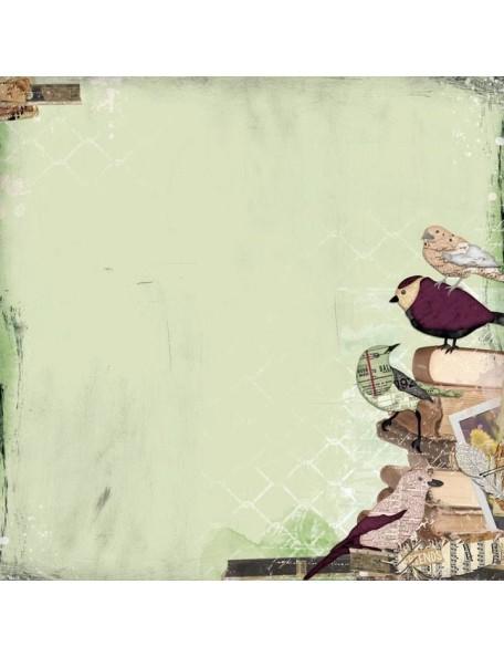 "BoBunny - Beautiful Dreamer Cardstock de doble cara 12""X12"" Illusion"