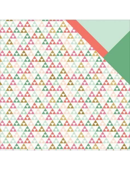 "My Minds Eye - On Trend 2 Foiled Cardstock de doble cara 12""X12"" Tripe"