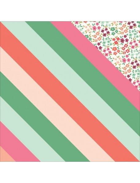 "My Minds Eye - On Trend 2 Foiled Cardstock de doble cara 12""X12"" Vived"