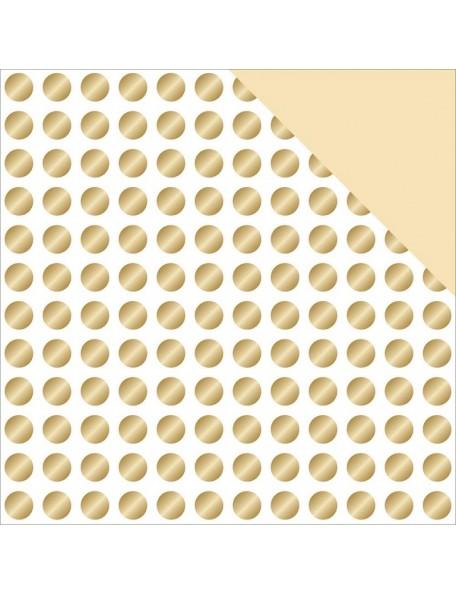 "Teressa Collins - Glam Factor Cardstock de doble cara 12""X12"" Gold Dots (gold Foil)"