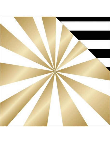 "Teressa Collins - Glam Factor Cardstock de doble cara 12""X12"" Textiles (gold Foil)"