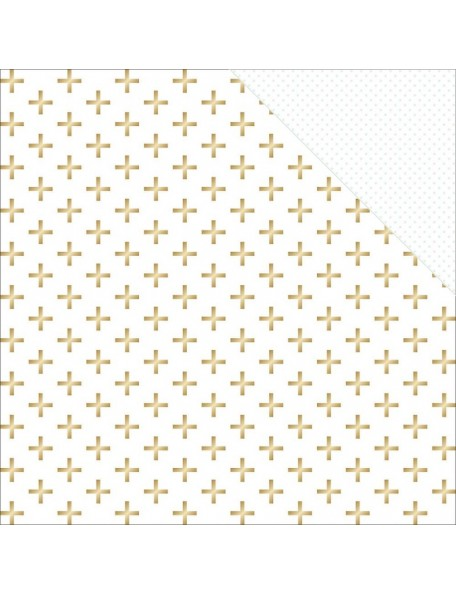"Teressa Collins - Collector's Edition Cardstock de doble cara 12""X12"" Plus (gold Foil)"