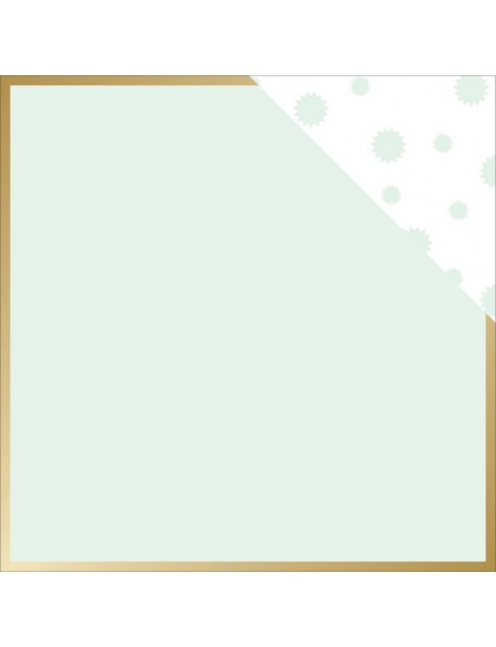 "Teressa Collins - Collector's Edition Cardstock de doble cara 12""X12"" Border (gold Foil)"
