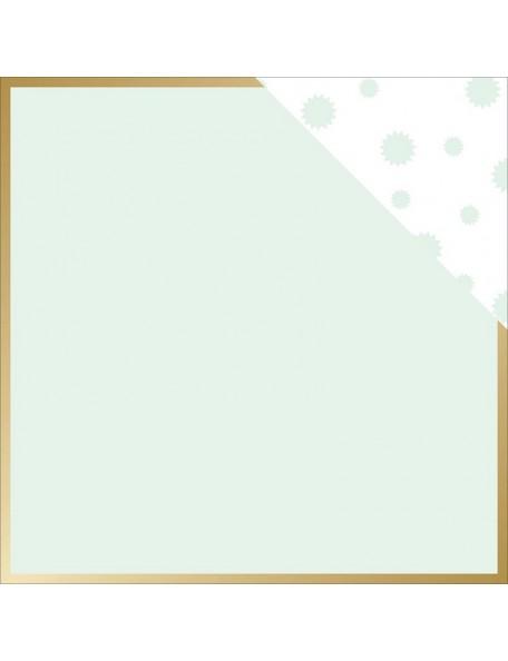 """Teressa Collins - Collector's Edition Cardstock de doble cara 12""""X12"""" Border (gold Foil)"""