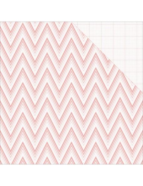"Teressa Collins - Project Pink Cardstock de doble cara 12""X12"" Ombre Chevron"