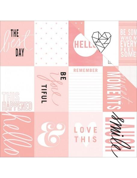 "Teressa Collins - Project Pink Cardstock de doble cara 12""X12"" Cards"