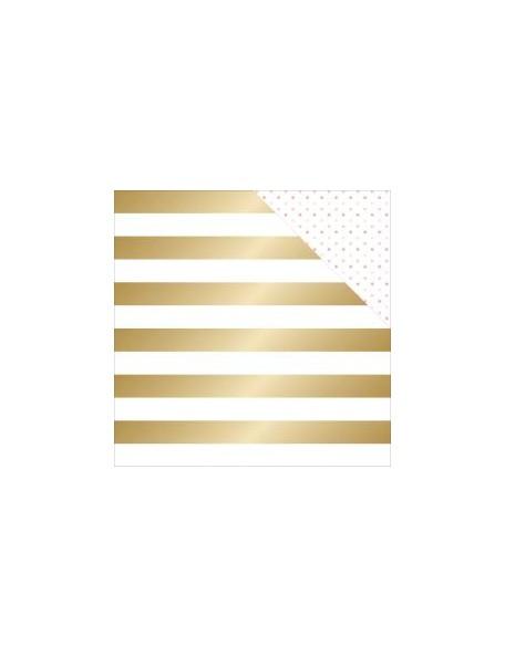 "Teressa Collins - Project Pink Cardstock de doble cara 12""X12"" Cabana (gold Foil)"