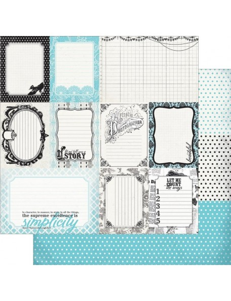"Authentique - Classique Elegant Cardstock de doble cara 12""X12"" Enhancements Cut Apart Journaling Cards"