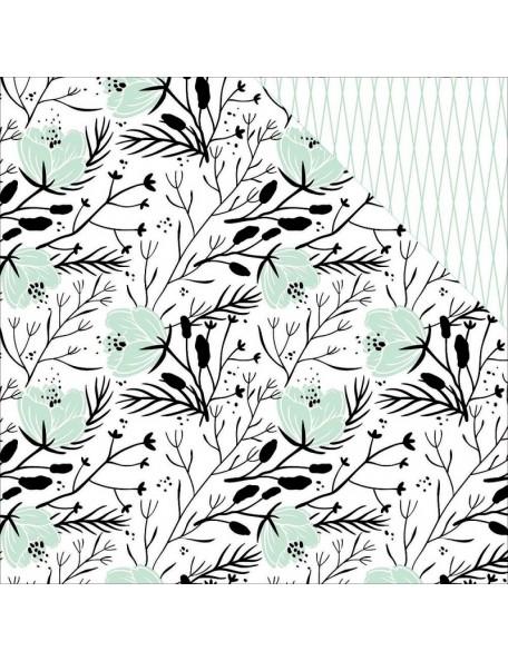 "Teressa Collins - Collector's Edition Cardstock de doble cara 12""X12"" Floral"
