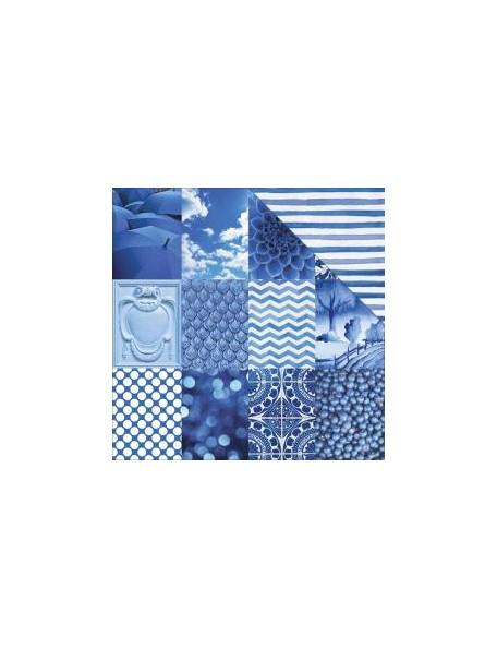 "Paper House ColorWays Sapphire Cardstock de doble cara 12""X12"", Mini Trim Cards"