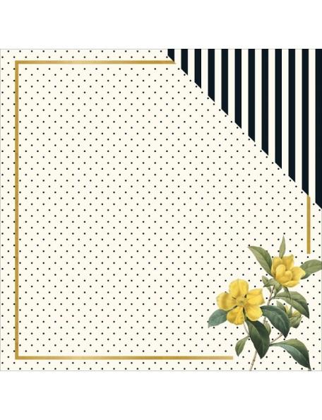 "My Minds Eye - In Bloom Cardstock de doble cara 12""X12"", Flora"