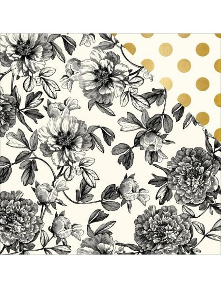 "My Minds Eye In Bloom Cardstock de doble cara 12""X12"", Modern Botanical"