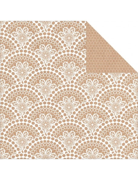 "Kaisercraft Mix & Match Cardstock de doble cara 12""X12"", Lace"