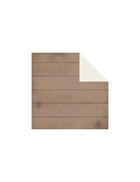 "Simple Stories - I Heart Summer Cardstock de doble cara 12""X12"", Brown Boardwalk/Graph Simple Basic"